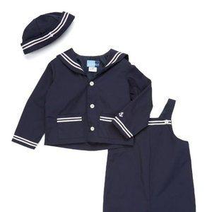 ☕️NWT☕️Boy Nautical Eton Sailor Suit. 3PC. 3/6M